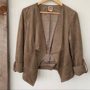 Anne Klein faux suede jacket